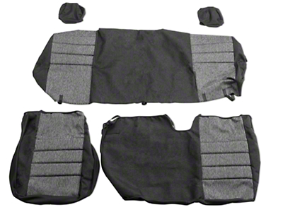 Fia Custom Fit Tweed Rear 60/40 Seat Covers - Charcoal (04-08 F-150 SuperCab, SuperCrew)