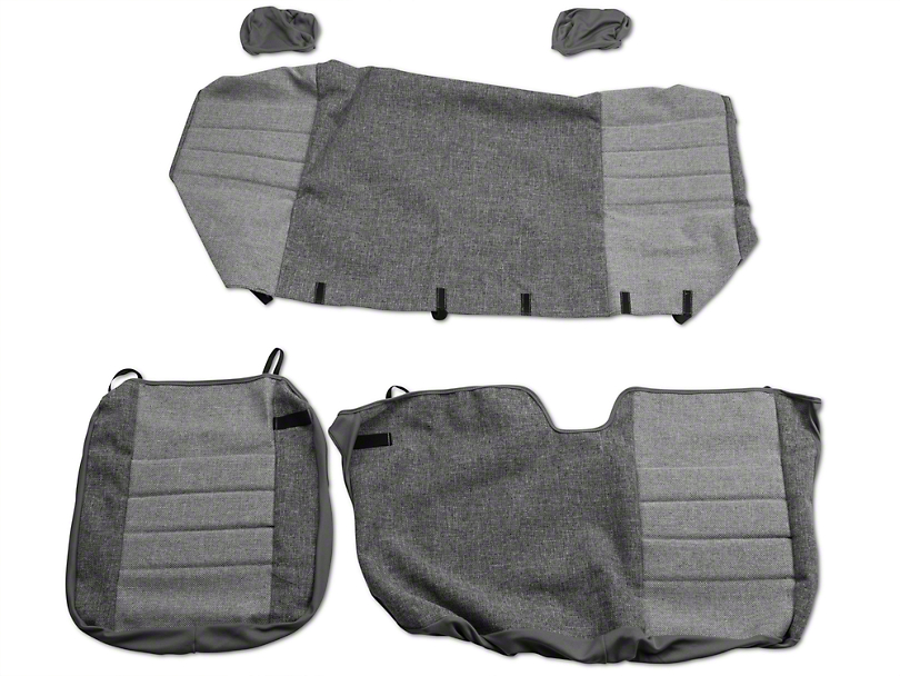 Fia Custom Fit Tweed Rear 60/40 Seat Covers - Gray (04-08 SuperCab, SuperCrew)