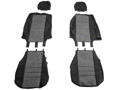 Fia Custom Fit Tweed Front Seat Covers - Charcoal (04-08 w/ Bucket Seats)
