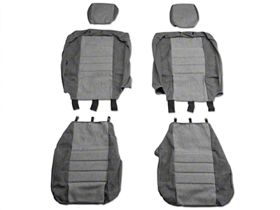 Fia Custom Fit Tweed Front Seat Covers - Gray (04-08 w/ Bucket Seats)