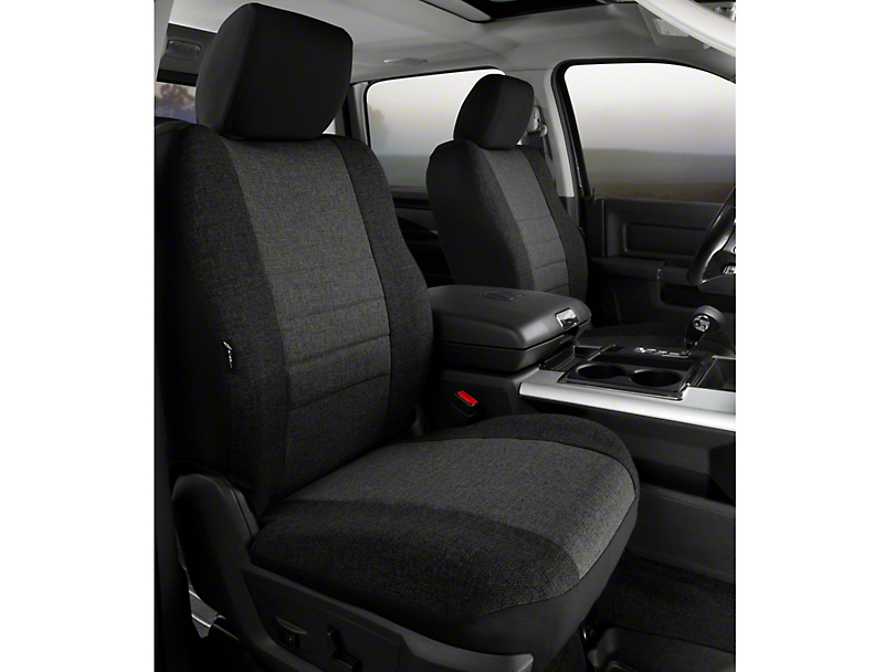 Fia Custom Fit Tweed Front Seat Covers - Charcoal (09-14 w/ Bucket Seats)