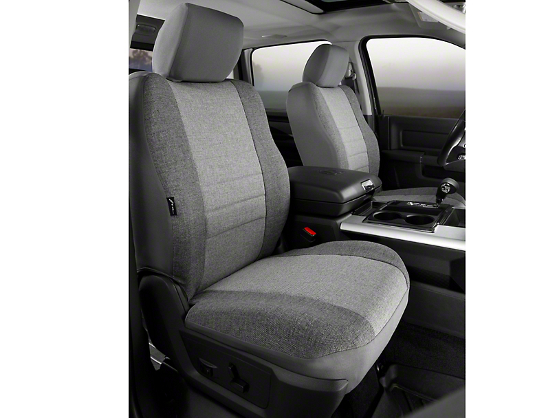 Fia Custom Fit Tweed Front Seat Covers - Gray (09-14 w/ Bucket Seats)