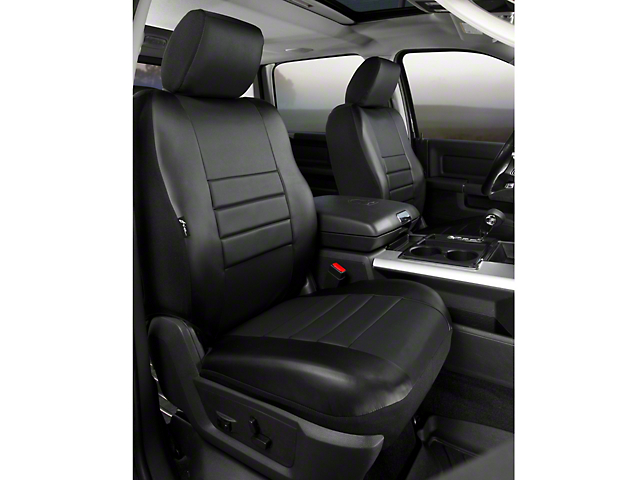 Fia Custom Fit LeatherLite Front Seat Covers - Black (09-14 w/ Bucket Seats)