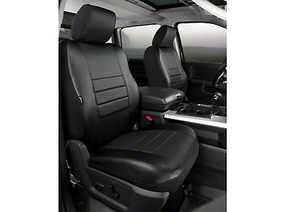 Fia Custom Fit LeatherLite Front Seat Covers - Black (09-14 F-150 w/ Bucket Seats)