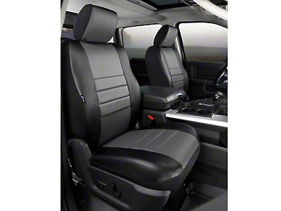 Fia Custom Fit LeatherLite Front Seat Covers - Gray (09-14 F-150 w/ Bucket Seats)