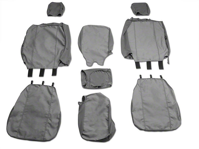 Fia Custom Fit Poly-Cotton Front 40/20/40 Seat Cover - Gray (04-08 F-150 w/ Bench Seat)