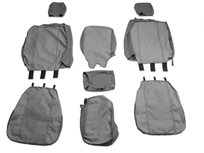 Fia Custom Fit Poly-Cotton Front 40/20/40 Seat Cover - Gray (04-08 w/ Bench Seat)