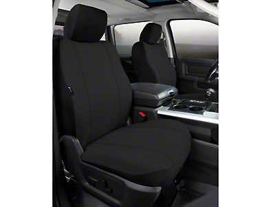 Fia Custom Fit Poly-Cotton Front Seat Covers - Black (09-14 F-150 w/ Bucket Seats)