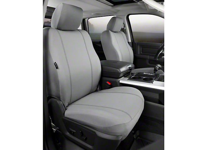 Fia Custom Fit Poly-Cotton Front Seat Covers - Gray (09-14 w/ Bucket Seats)