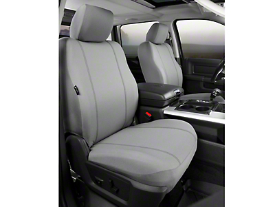 Fia Custom Fit Poly-Cotton Front Seat Covers - Gray (09-14 F-150 w/ Bucket Seats)
