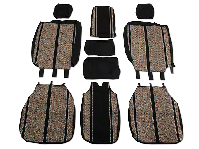 Fia Custom Fit Saddle Blanket Front 40/20/40 Seat Cover - Black (04-08 w/ Bench Seat)