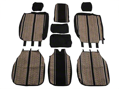 Fia Custom Fit Saddle Blanket Front 40/20/40 Seat Cover - Black (04-08 F-150 w/ Bench Seat)