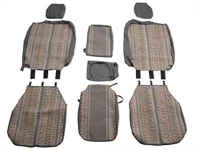 Fia Custom Fit Saddle Blanket Front 40/20/40 Seat Cover - Gray (04-08 w/ Bench Seat)