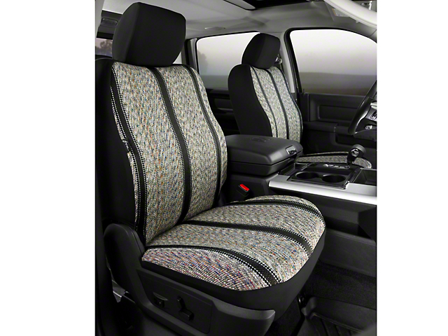Fia Custom Fit Saddle Blanket Front Seat Covers - Black (09-14 w/ Bucket Seats)