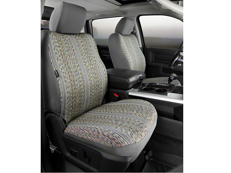 Fia Custom Fit Saddle Blanket Front Seat Covers - Gray (09-14 F-150 w/ Bucket Seats)