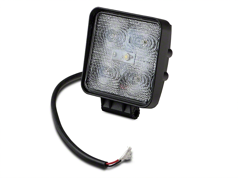 Raxiom 4.25 in. Square LED Light - Flood Beam (97-17 All)
