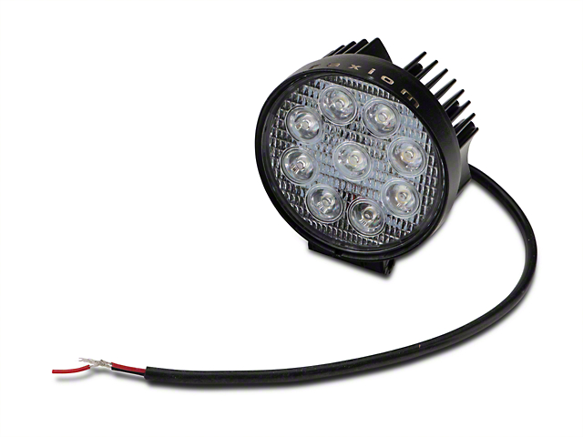 Raxiom 4.5 in. Round 9 LED Light - Flood Beam (97-18 All)