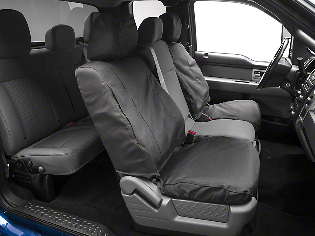Covercraft Seat Saver Front Seat Covers - Dark Charcoal (09-14 w/ Bucket Seats)