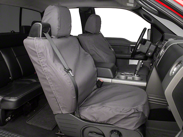 Covercraft Seat Saver Front Bucket Seat Covers - Charcoal (04-08 Regular Cab, SuperCab; 07-08 SuperCrew)