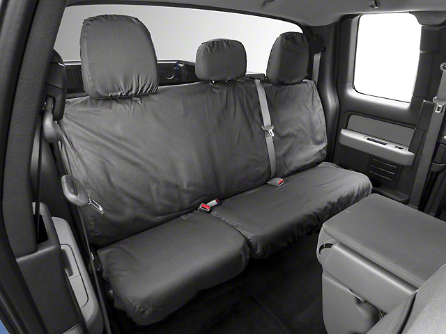 Covercraft Seat Saver 2nd Row Seat Cover - Dark Charcoal (09-14 SuperCab, SuperCrew)