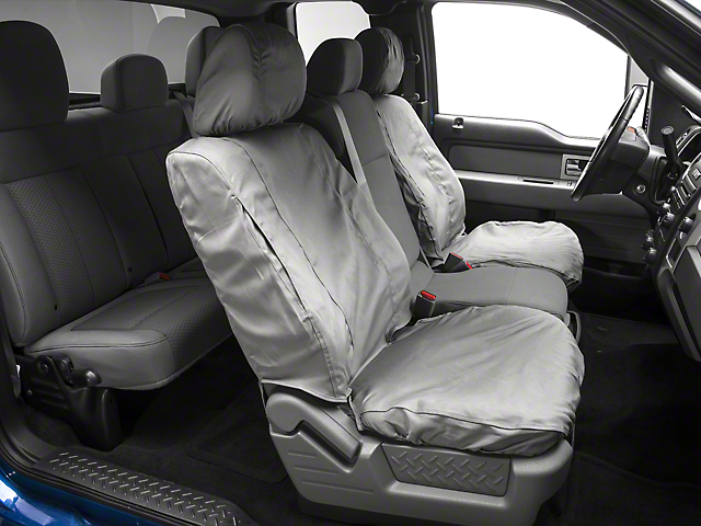 covercraft seat saver f-150 front seat covers - gray t103003 (09-14