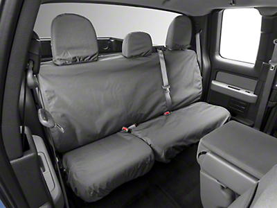 Covercraft Seat Saver 2nd Row Seat Cover - Waterproof - Gray (09-14 SuperCab, SuperCrew)