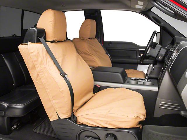 Covercraft Seat Saver Front 40/20/40 Bench Seat Cover - Tan (04-08 F-150 Regular Cab, SuperCab; 07-08 SuperCrew)