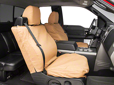 Covercraft Seat Saver Front 40/20/40 Bench Seat Cover - Tan (04-08 Regular Cab, SuperCab; 07-08 SuperCrew)