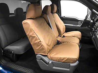 Covercraft Seat Saver Front Seat Covers - Tan (09-14 w/ Bench Seat)