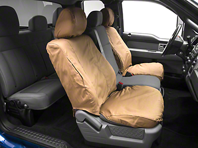 Covercraft Seat Saver Front Seat Covers - Tan (09-14 w/ Bucket Seats)