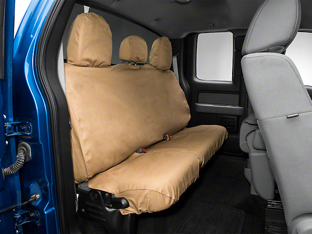 Covercraft Seat Saver 2nd Row Seat Cover - Tan (09-14 F-150 SuperCab, SuperCrew)