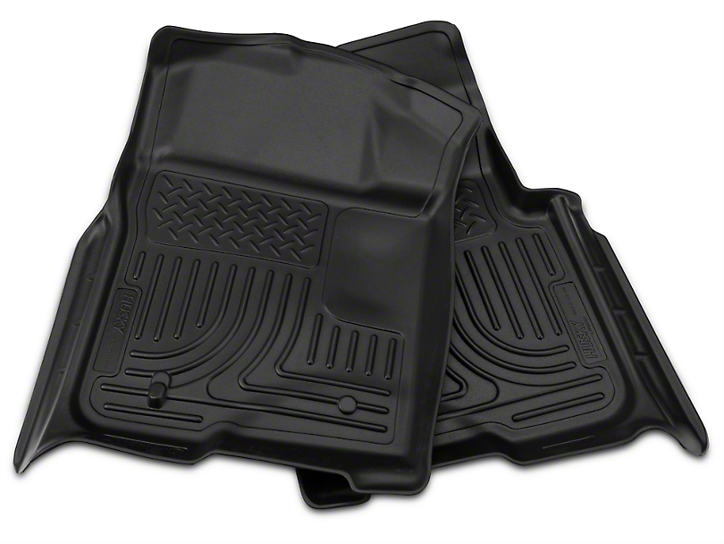 Husky WeatherBeater Front & 2nd Seat Floor Liners - Black (09-14 SuperCab, SuperCrew)
