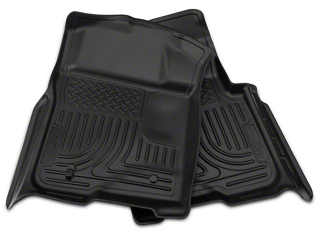 Husky WeatherBeater Front & 2nd Seat Floor Liners - Black (09-14 F-150 SuperCab, SuperCrew)