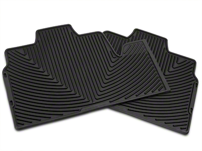 Weathertech All Weather Rear Rubber Floor Mats - Black (09-14 SuperCab, SuperCrew)