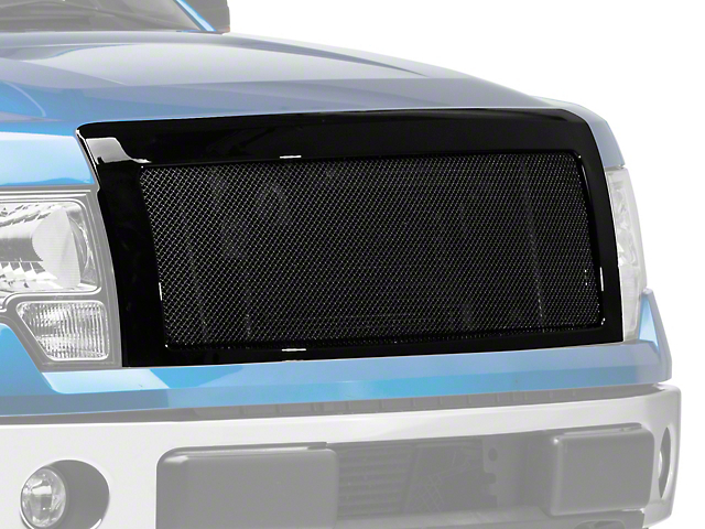 SpeedForm Stainless Steel Upper Replacement Grille; Black (09-14 F-150, Excluding Raptor)
