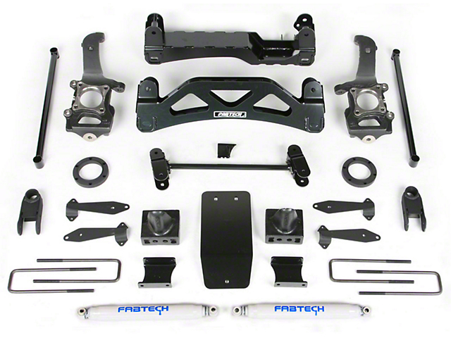 Fabtech 6 in. Basic Lift Kit w/ Performance Shocks (04-08 4WD V8)