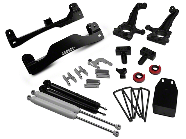 Fabtech 4 in. Basic Lift System w/ Performance Shocks (09-13 4WD SuperCab, SuperCrew)