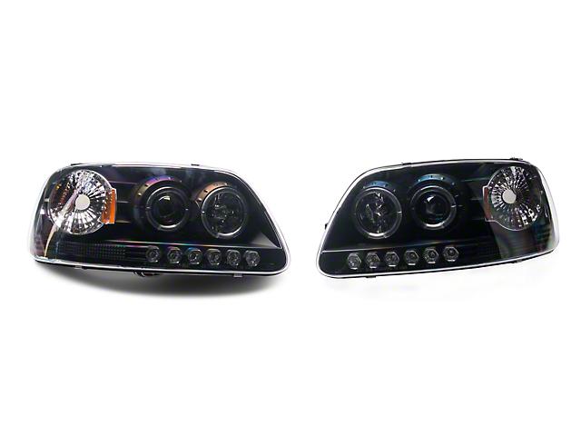Axial Black Projector Headlights (97-03 F-150)