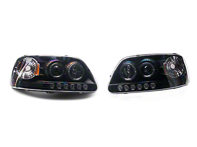 Axial Black Projector Headlights (97-03 All)