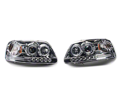 Axial Chrome Projector Headlights (97-03 F-150)