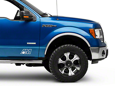 Putco Stainless Steel Fender Trim - Polished (04-14 F-150 w/o Fender Flares)