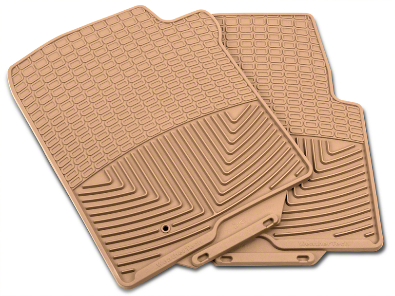 Weathertech All Weather Front Rubber Floor Mats - Tan (04-08 F-150)