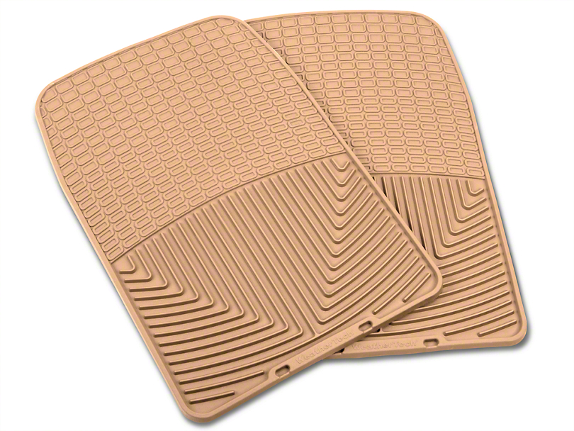 Weathertech All Weather Front Rubber Floor Mats - Tan (97-03 All)