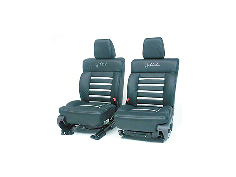 Roush Leather Seat Covers - Black/Silver (04-08 SuperCab, SuperCrew)