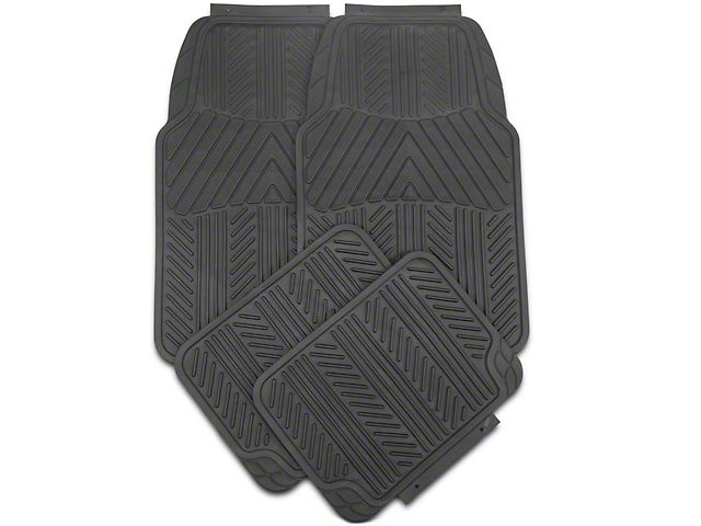TruShield 4-Piece All Weather Floor Mat Set - Black (97-14 All)