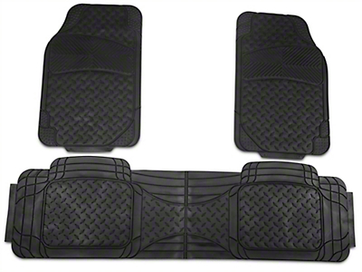TruShield All Weather Floor Mat Set w/One-Piece Rear Mat - Black (97-14 All)