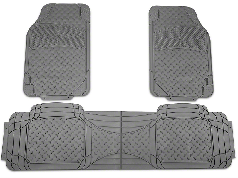 TruShield All Weather Floor Mat Set w/One-Piece Rear Mat - Gray (97-14 All)