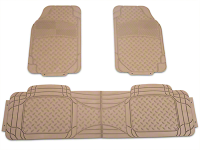 TruShield All Weather Floor Mat Set w/One-Piece Rear Mat - Beige (97-14 All)