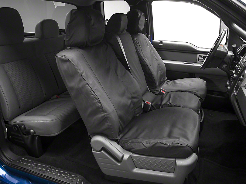 Covercraft Seat Saver Front Seat Covers - Dark Charcoal (09-14 w/ Bench Seat)