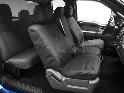 Covercraft Seat Saver Front Seat Covers - Dark Charcoal (09-14 F-150 w/ Bench Seat)